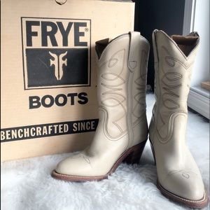 Frye Shoes - Frye • Alabaster Cowboy Boots